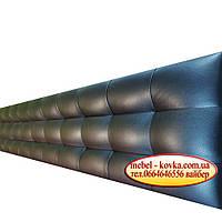 Стеновые  узкие панели на заказ из кожзама