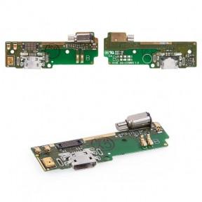 Нижняя плата Sony F3111, F3112, F3113, F3115, F3116 Xperia XA с разьемом зарядки, микрофоном и виброзвонком