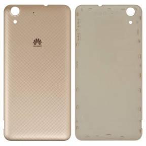 Задняя крышка Huawei Y6 II (CAM-L21), Honor 5A (CAM-AL00) золотистая, фото 2