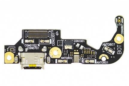 Нижняя плата Asus ZenFone 3 (ZE520KL) Z017D с разъемом зарядки и микрофоном, фото 2