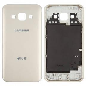 Задняя крышка Samsung A300F (2015) Galaxy A3, A300FU, A300H золотистая, фото 2