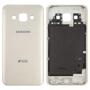 Задняя крышка Samsung A300F (2015) Galaxy A3, A300FU, A300H золотистая