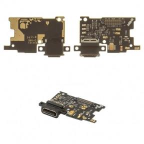 Нижняя плата Xiaomi Mi6 с разъемом зарядки и микрофоном