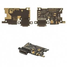 Нижняя плата Xiaomi Mi6 с разъемом зарядки и микрофоном, фото 2