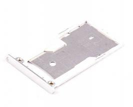 Держатель SIM-карты и карты памяти Xiaomi Redmi Note 3 Pro белый (серебристый)