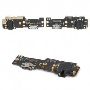 Нижняя плата Meizu M3 Max с разъемом зарядки, микрофоном, фото 2