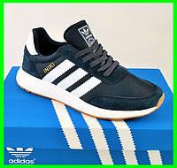 Кроссовки Мужские Adidas Iniki Runner Boost Синие Адидас (размеры: 43,44,45,46) Видео Обзор