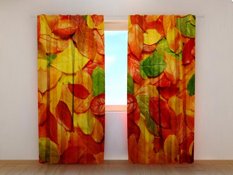 """Фото шторы """"Осенние листья"""" 250 х 260 см"""