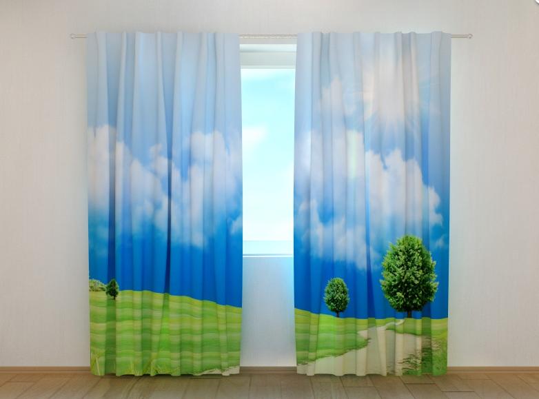 "Фото шторы ""Поле"" 250 х 260 см"