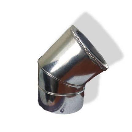 Фабрика ZIG Отвод 45° для дымохода ø 140/200 н/оц 1 мм, фото 2