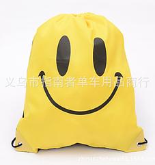 Універсальний спортивний / міський / пляжний складаний портативний (45 г) рюкзак-мішок / торбинка / торба ЖОВТИЙ (СМАЙЛ)