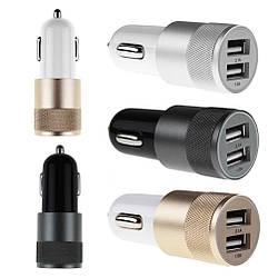 Зарядний пристрій автомобільний для прикурювача JL-280-1 на 2 USB порту