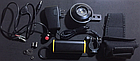 Мембранный электрический клаксон / гудок / сигнал 8.4V Aowe FA-668 (батарея-повербанк 8.4 / 5 V, литая кнопка), фото 3