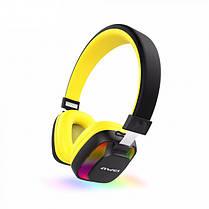 Бездротові Bluetooth-навушники гарнітура накладні Awei A760BL Black/Yellow, фото 2
