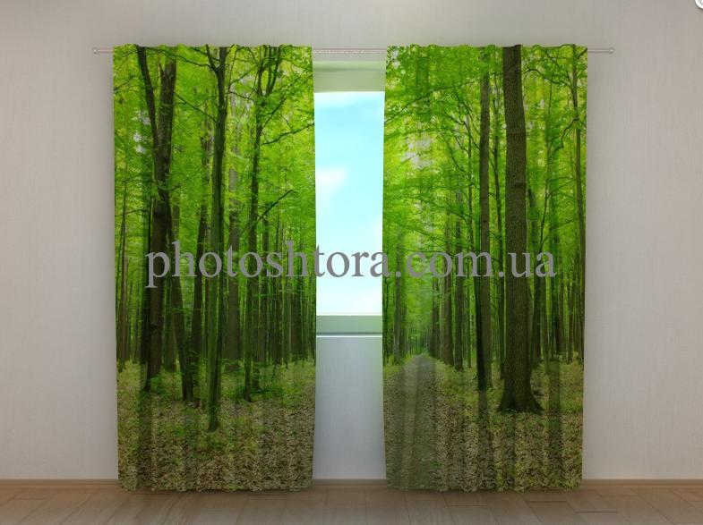 "Фото шторы ""Зеленый парк"" 250 х 260 см"