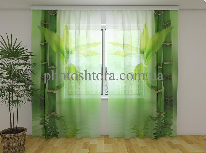 Фото Тюль Зелений бамбук 250 см х 260 см