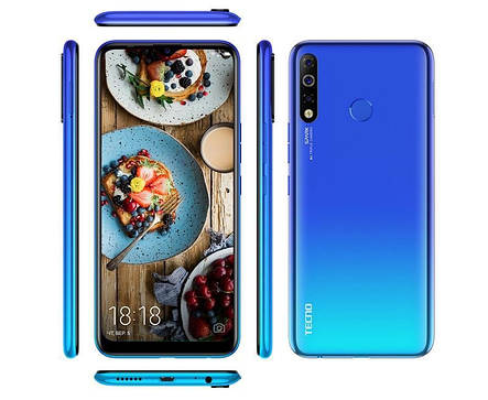 "Смартфон Tecno Spark 4 3/32 (KC2) Dual Sim Vacation Blue (4895180751073); 6.52"" (1600х720) IPS / MediaTek Helio A22 / ОЗУ 3 ГБ / 32 ГБ встроенной +, фото 2"