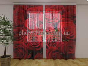 Фото Тюль Троянди 2 250 см х 260 см