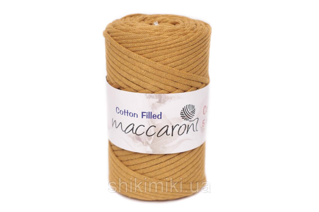 Трикотажный хлопковый шнур Cotton Filled 5 мм, цвет Горчица