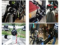 Мембранный электро вело / мото клаксон / гудок / сигнал 120 Дб 12V на кнопке (с блоком аккумуляторов 2500 мАч)