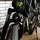 Мембранний електро вело / мото клаксон / гудок / сигнал 120 Дб 12V на кнопці з блоком акумуляторів 2500 мАч), фото 2