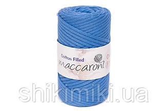 Трикотажный хлопковый шнур Cotton Filled 5 мм, цвет Темно-голубой