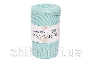Трикотажный хлопковый шнур Cotton Filled 5 мм, цвет Ментол