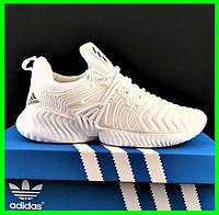 Кроссовки Мужские Adidas Alphabounce Белые Адидас (размеры: 41,42,43,45) Видео Обзор