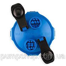 Шейкер с двумя отсеками Hydra Cup 3.0 blue синий на 1036 мл (США), фото 3