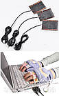Нагрівальні елементи в рукавички / одяг з живленням від USB до 50 градусів №3 - 2 X 8*6 см, ламінат, USB, фото 2
