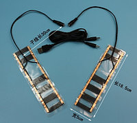 Нагревательные элементы в обувь / одежду с питанием от USB до 50 градусов №4 - 2 X 17*4 см, ламинат, USB