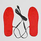 Нагревательные элементы в обувь / одежду с питанием от USB до 50 градусов №4 - 2 X 17*4 см, ламинат, USB, фото 2