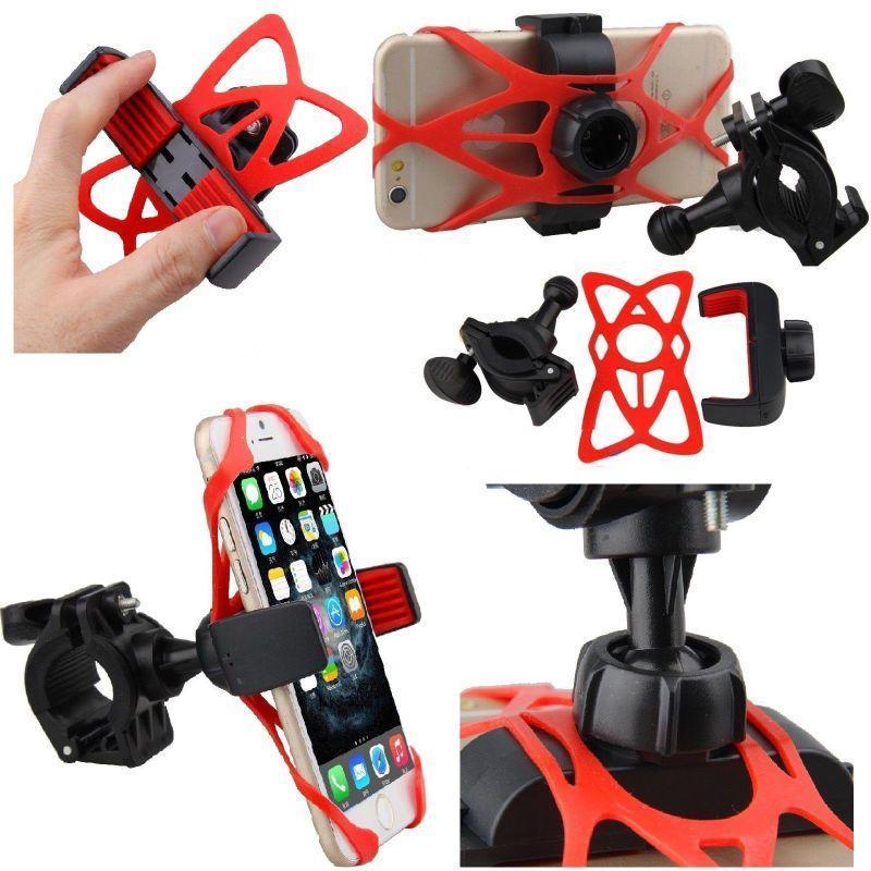 Держатель / кріплення силіконове універсальне для телефону / смартфона на вело-кермо