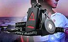 Нагрудная водонепроницаемая фара со стоп-сигналом сзади для бегунов с аккумулятором 200 мАч, зарядка USB, фото 6