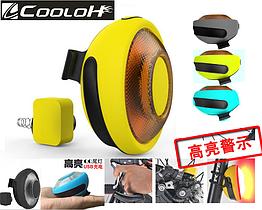 Задний вело-габарит / стоп-сигнал / USB мигалка «COOLOH» с беспроводным датчиком на V-BRAKE