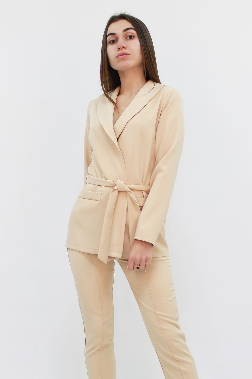 S, M, L, XL | Стильний жіночий костюм Mango, бежевий