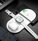 Baseus Smart 3in1 Wireless Charger For Phone+Watch+Pods(18W MAX)White, фото 2