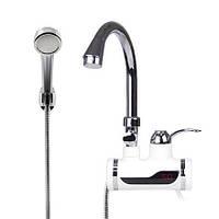 Проточный водонагреватель Delimano с душем LED экраном мгновенный нагреватель воды Делимано мини бойлер кран