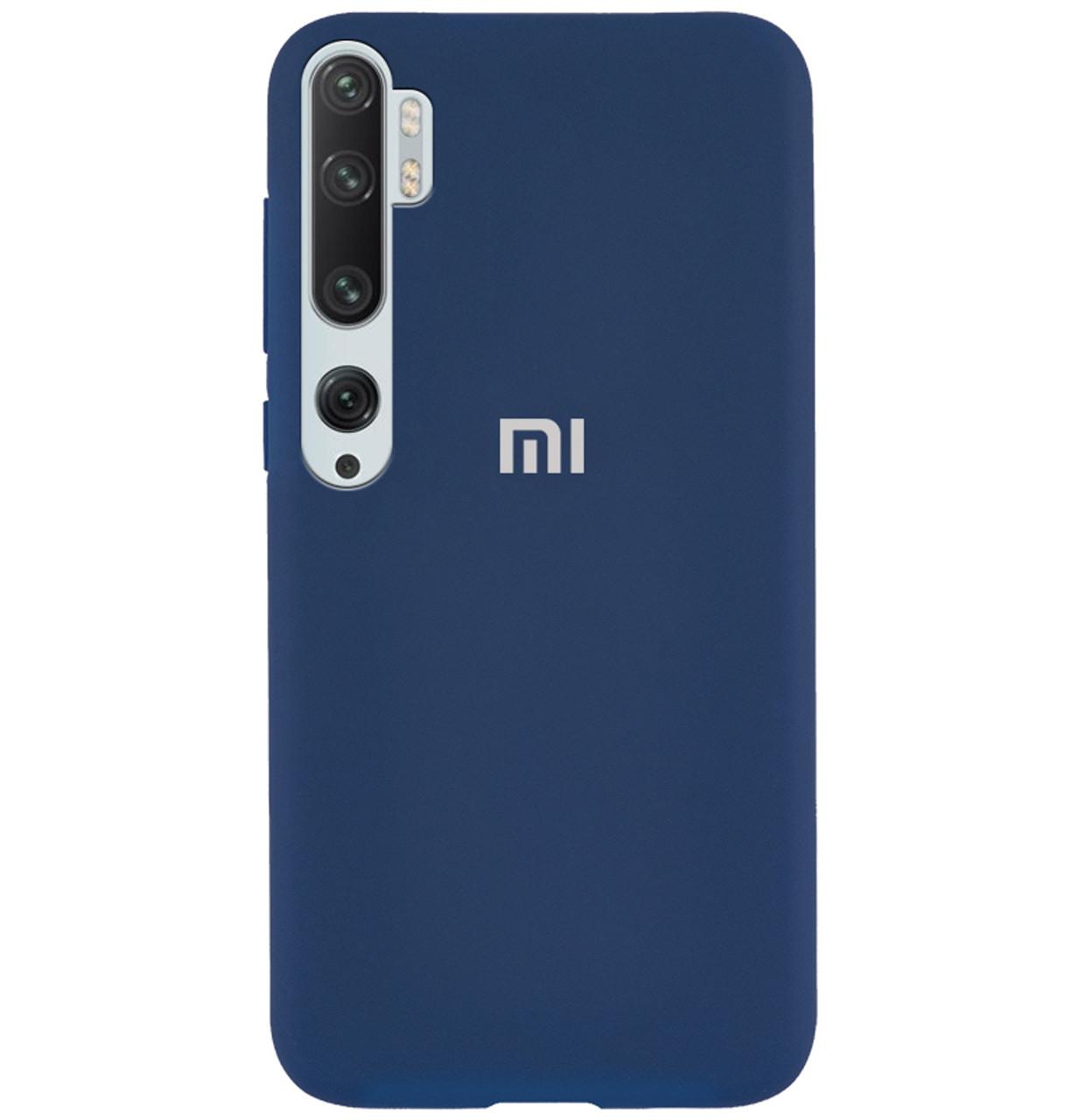 Чехол-накладка Original Silicone case Full Protective на Xiaomi Mi Note 10 / Note 10 Pro / CC9 Pro #1 Navy Blue
