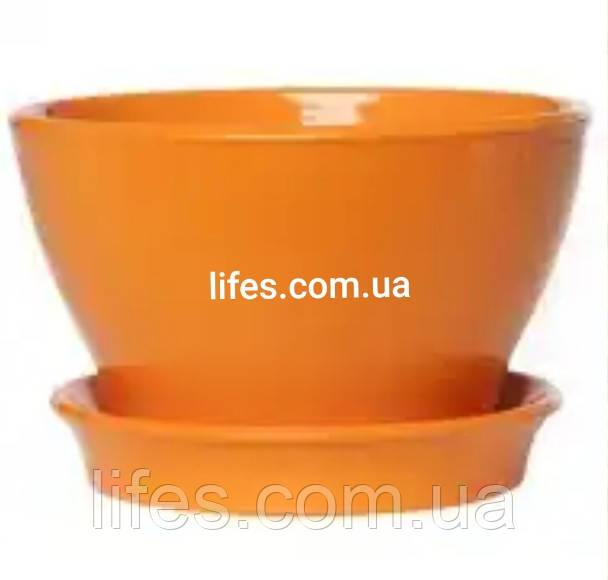 Фиалочница керамическая оранж