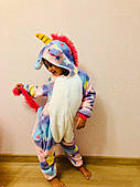 Пижама кигуруми для девочки Единорог, большемерит (р.100/110)