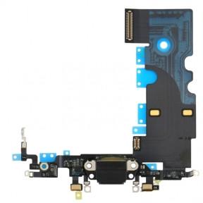 Шлейф Apple iPhone 8, iPhone SE 2020 с разъемом зарядки, микрофоном, черный Оригинал Китай
