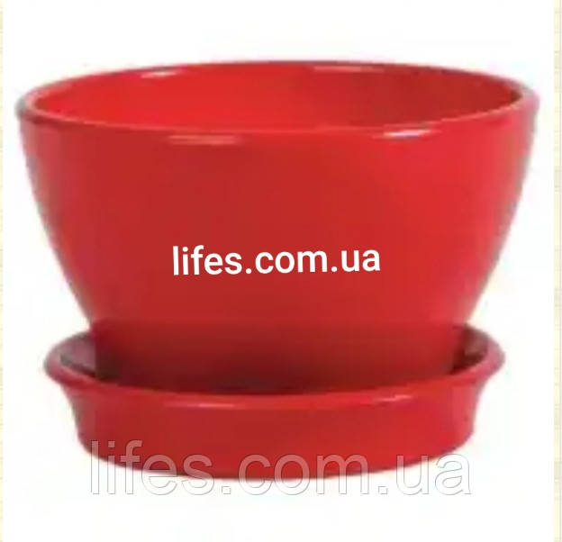 Фиалочница керамическая красная