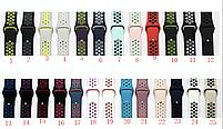 Силиконовый ремешок черный с зеленым Sport Nike+ Band для умных смарт часов Apple watch 38/40 mm, фото 7
