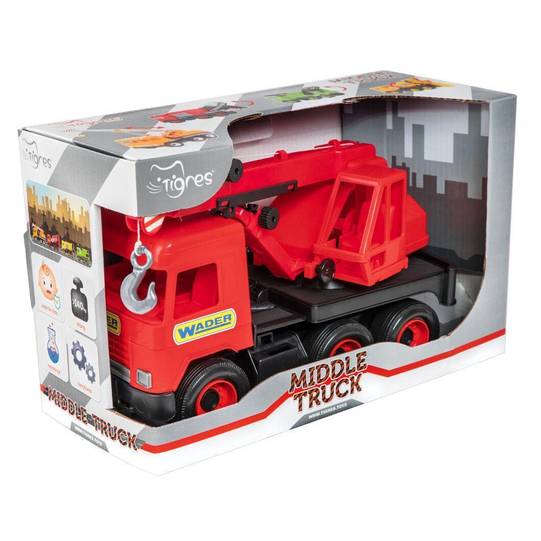 "Авто ""Middle Truck"" кран (красный) в коробке (39487)"