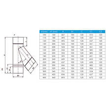 Фабрика ZIG Тройник 45° для дымохода ø 230/300 н/н 0,8 мм, фото 3