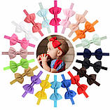 Детская повязка синего цвета - окружность головы  40-60см, бант 12см, фото 2