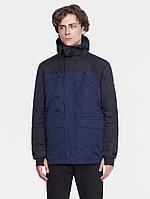 Куртка мужская демисезонная | FLEECE PARKA  черный/синий
