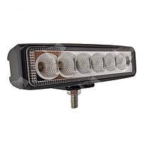 Дополнительная светодиодная фара рассеянного (ближнего) света 18W/60 прямоугольная панель 10-30V, фото 1