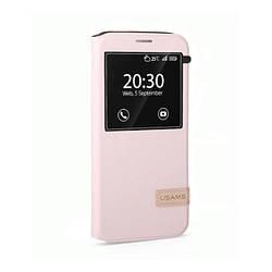 Чохол-підставка Usams Muge Series Pink Samsung Galaxy S7 Рожевий (acf_00278)